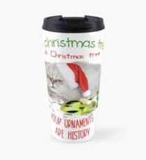 Funny Christmas Cat Oh Christmas Tree Travel Mug