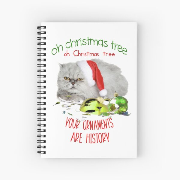 Funny Christmas Cat Oh Christmas Tree Spiral Notebook