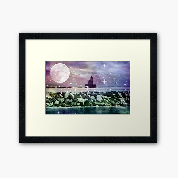 By the light of the moon ©  Framed Art Print
