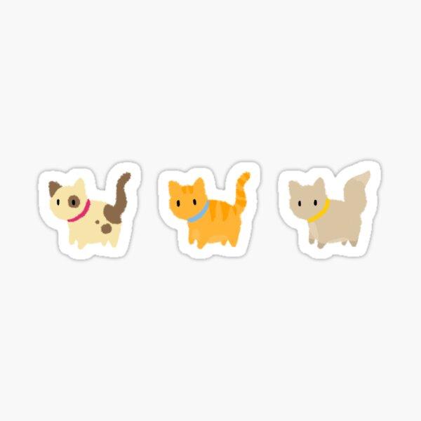 Three fluffy kittens Sticker