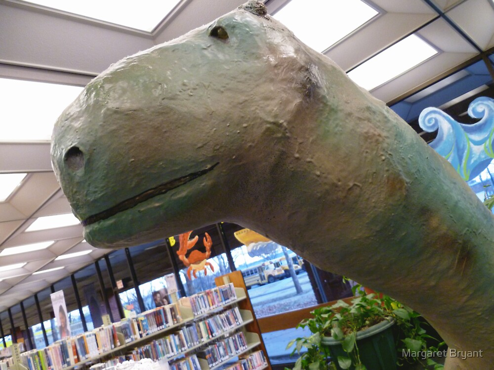 01-08-11 Library Dinosaur With True Grit by Margaret Bryant