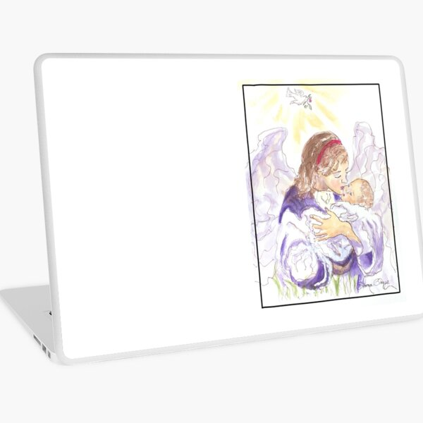 Angel of Protection Laptop Skin