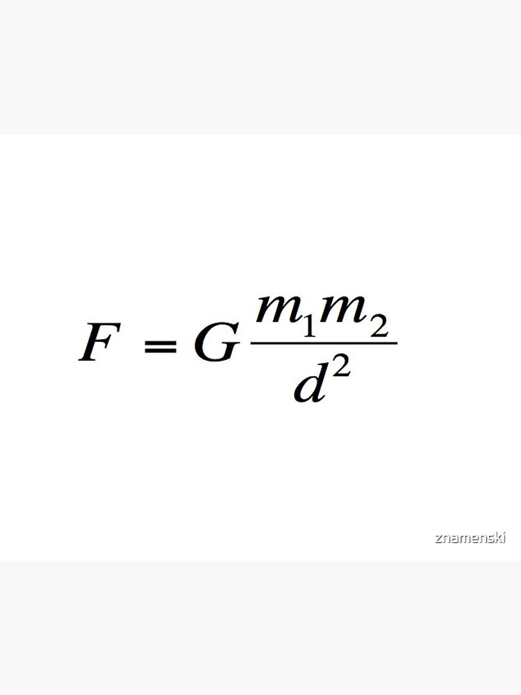 Newton's universal #law of #gravitation. #Gravity. What does it mean? #Calculates the force of gravity between two objects by znamenski