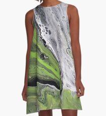 Green Meanie A-Line Dress