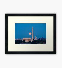 Moonrise Over Washington, DC Framed Print