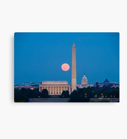 Moonrise Over Washington, DC Canvas Print