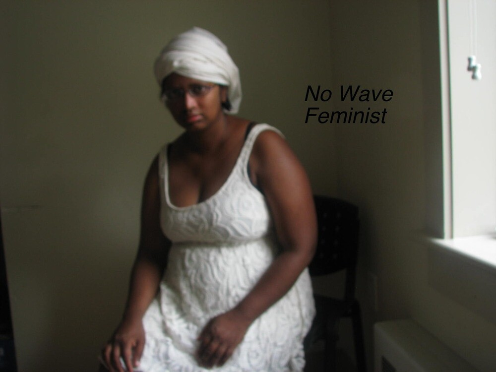 No Wave Feminist (woman in white) by SajiaSultana