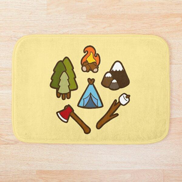Camping is cool Bath Mat