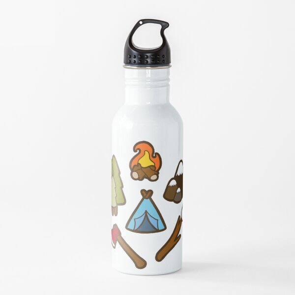 Camping is cool Water Bottle
