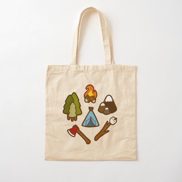 Camping is cool Cotton Tote Bag