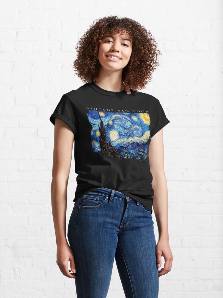 Alternate view of Van Gogh Starry Night  Classic T-Shirt