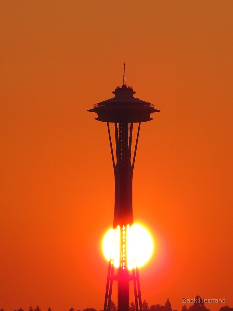 Space Needle sunrise by Zack Heistand