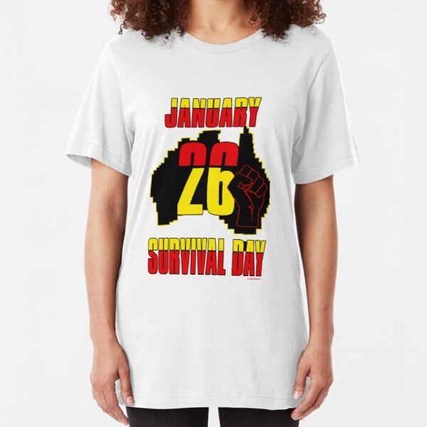 January 26 Survival Dayiii [-0-] Slim Fit T-Shirt