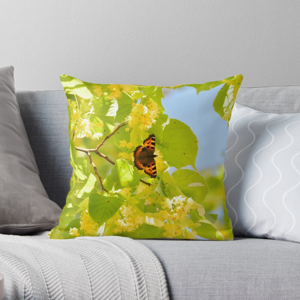 Chasing the Butterfly Throw Pillow