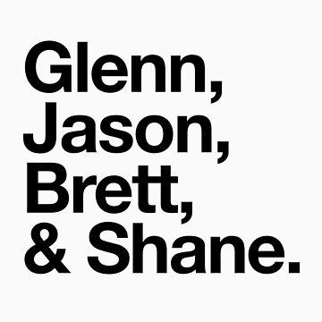 Glenn, Jason, Brett & Shane by stevemcqueen1