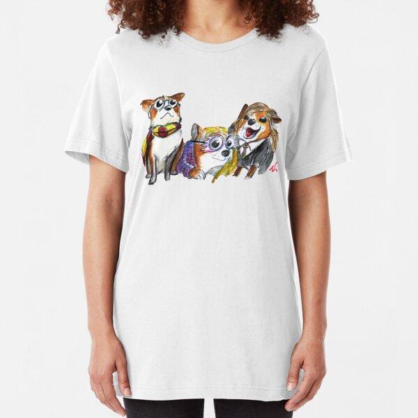 Corgi Potter Slim Fit T-Shirt