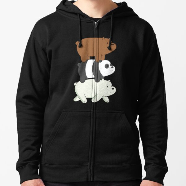 We Bare Bears Veste zippée à capuche