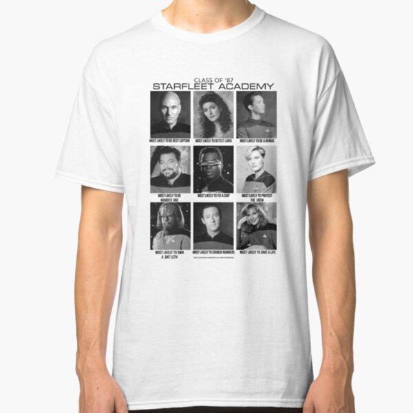 Star Trek Next Generation Class Of '87 Starfleet Academy Classic T-Shirt