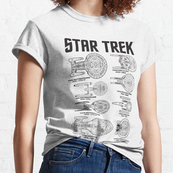 Star Trek Ships Of the Past Schematics Classic T-Shirt