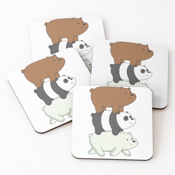 We Bare Bears Dessous de verre (lot de 4)