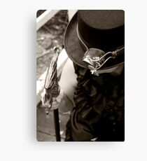 The Hat, the Gadget and the Cane Canvas Print