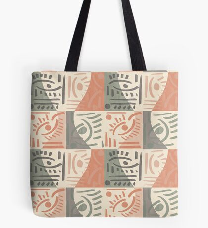 Tribal Tiles #redbubble #pattern Tote Bag