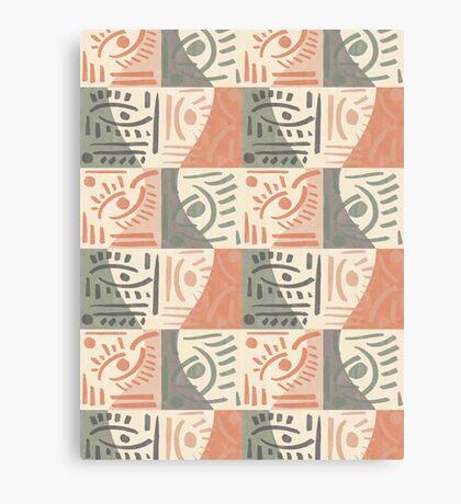 Tribal Tiles #redbubble #pattern Canvas Print