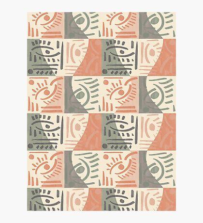 Tribal Tiles #redbubble #pattern Photographic Print