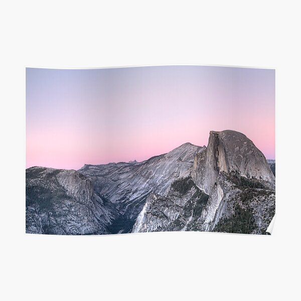 Half Dome at Sunset Poster