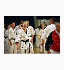 Karate Girl Photographic Print