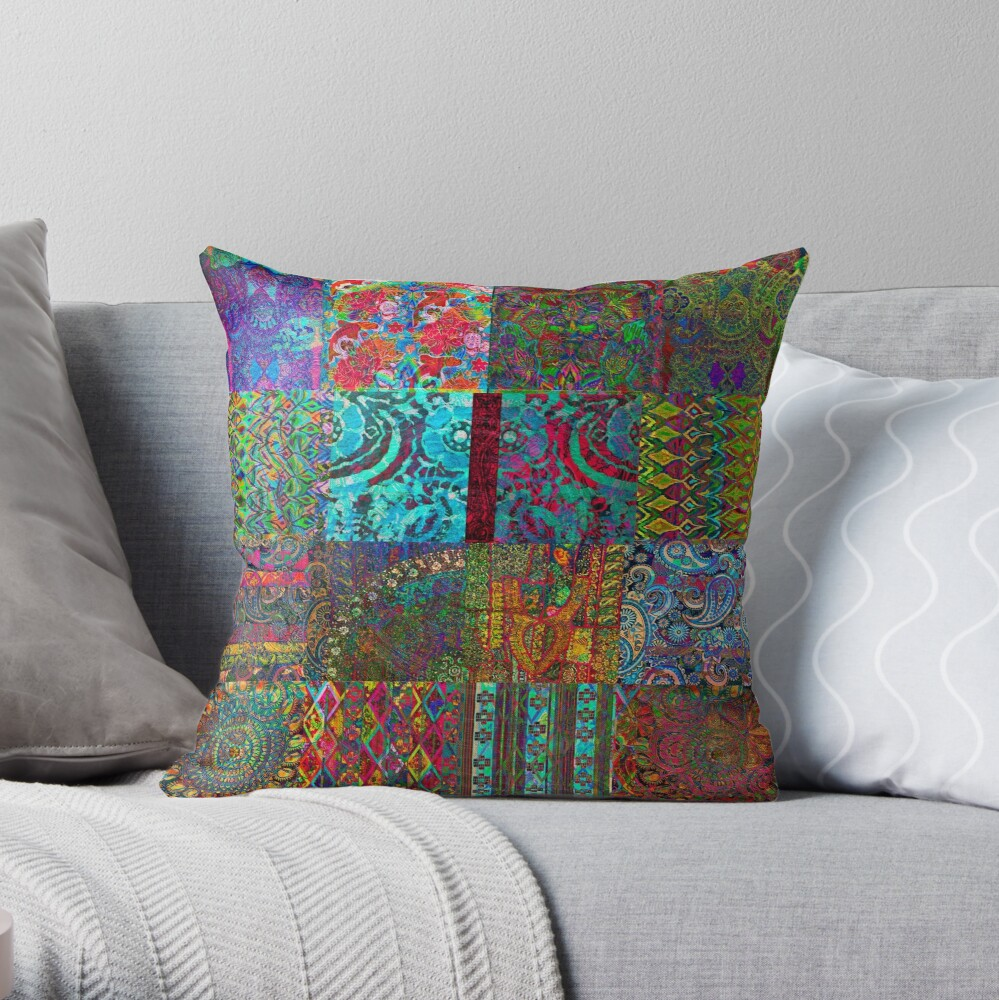 Bohemian Wonderland Throw Pillow