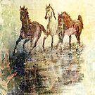 Horses.Vintage Card. by Vitta