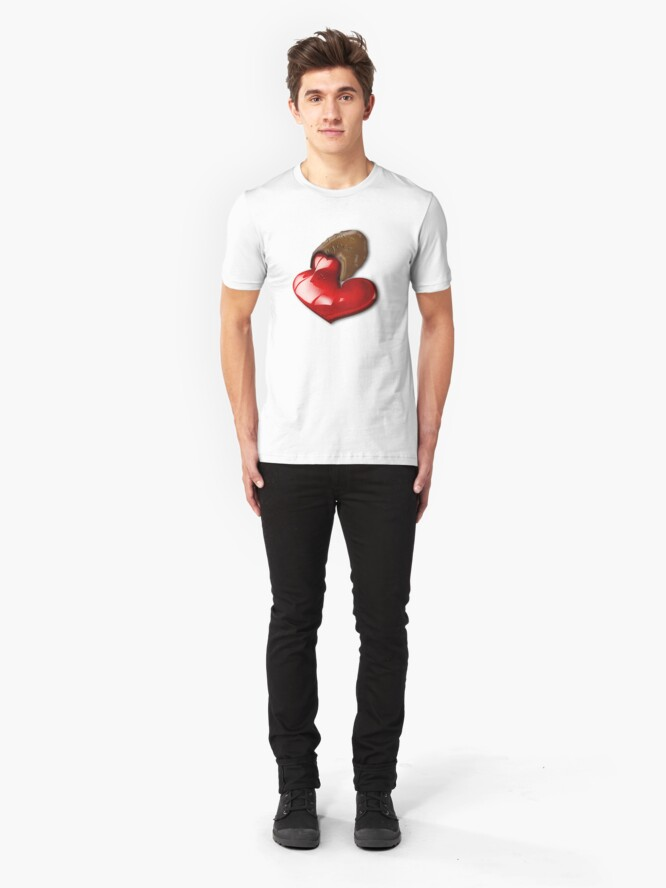 Alternate view of Chocolate - I Love You Slim Fit T-Shirt