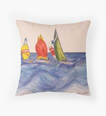Yachting Throw Pillow