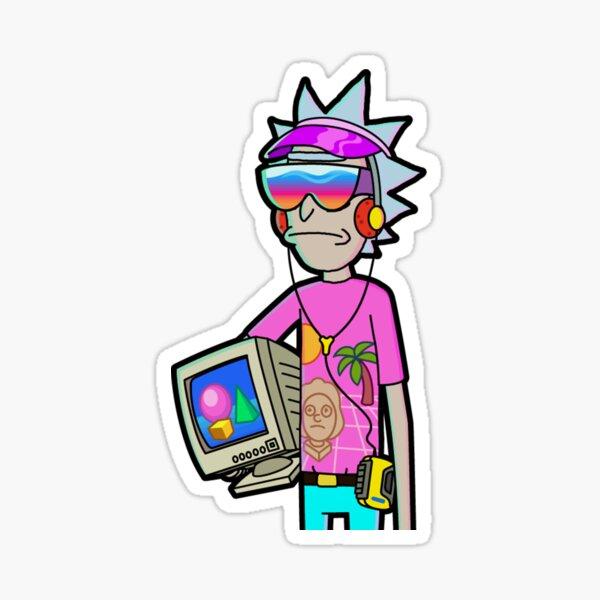 Retro Rick Sticker