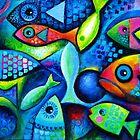 Bunter Fisch von Karin Zeller