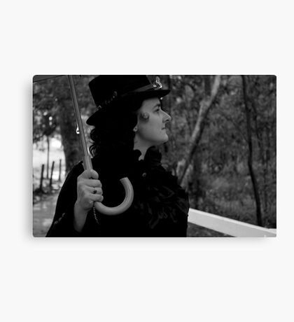 Profile of a Lady Canvas Print
