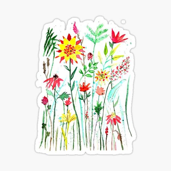 Blumenwiese Sticker