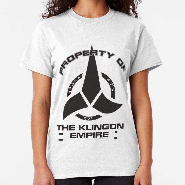 Star Trek Discovery Property Of Klingon Empire Black Logo Classic T-Shirt