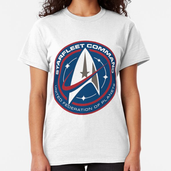 Star Trek Discovery Starfleet Command Red And Blue Badge Classic T-Shirt