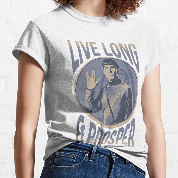 Star Trek Original Series Spock Blue Hue Portrait Poster Classic T-Shirt