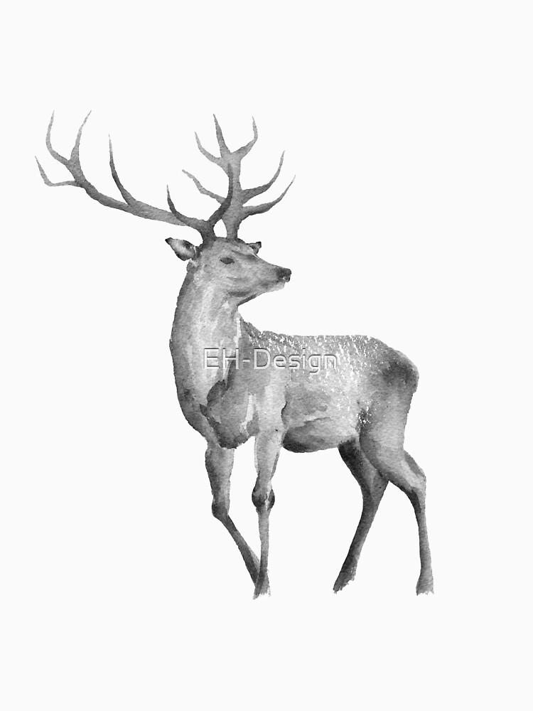 Watercolor Deer von EH-Design