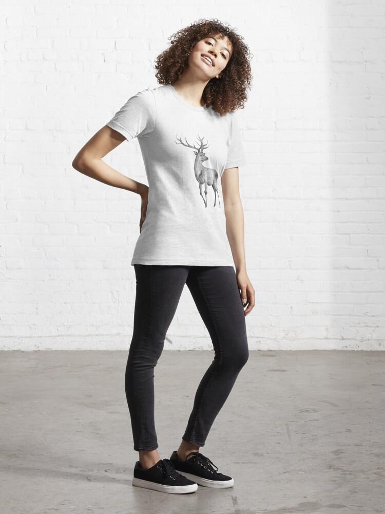 Alternative Ansicht von Watercolor Deer Essential T-Shirt