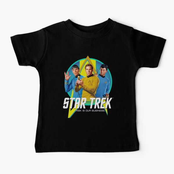 Star Trek Original Series Group Shot Retro Portrait Logotipo Camiseta para bebés