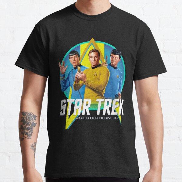 Star Trek Original Series Group Shot Retro Portrait Logo Classic T-Shirt