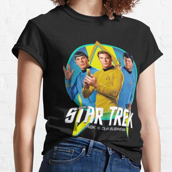 Star Trek Original Series Logo Portrait Portrait en Portrait de groupe T-shirt classique