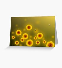 * sunflower field * Greeting Card