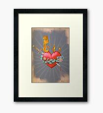 Flaming Heart Framed Print