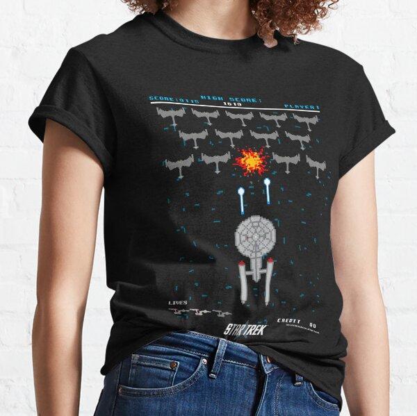 Star Trek Original Series Pixel Art Battle Scene Classic T-Shirt