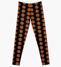 Fiery Orange and Yellow Dahlias Leggings